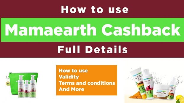 How to use Mamaearth Cashback